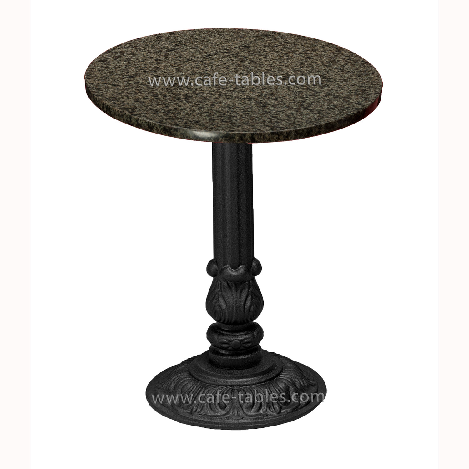 river green granite table top with vintage pieta base