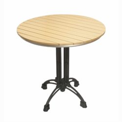 round teak top with margate 4 base