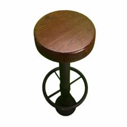 custom bolt down bar stool with dark walnut seat
