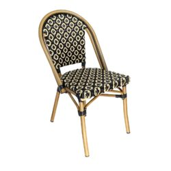 outdoor black french bistro chair